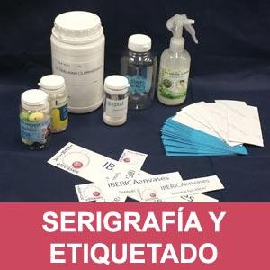 servicio de serigrafia y etiquetado de envases